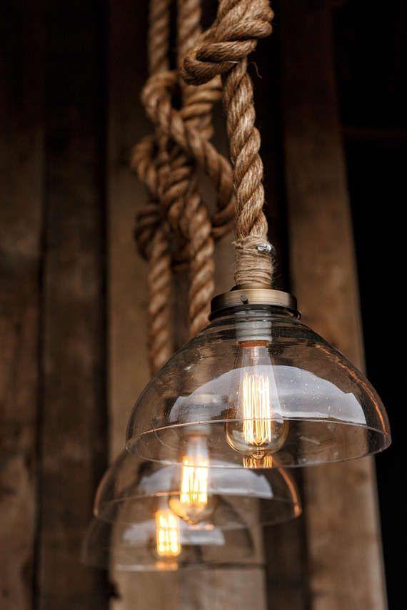 The Prestige Pendant Light Industrial Rope Light Fixture Rope