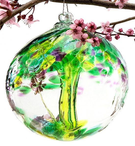 Fond Memories Ornamental Glass Globe Glass Blowing Hand Blown Glass Sympathy Gifts