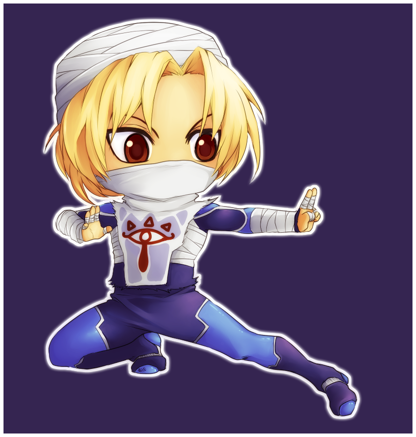Chibi Sheik Character inspiration, Legend of zelda
