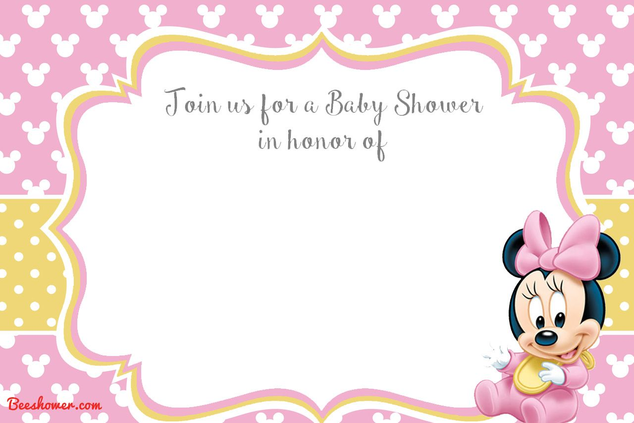 Free Printable Minnie Mouse 1st Invitation Talli