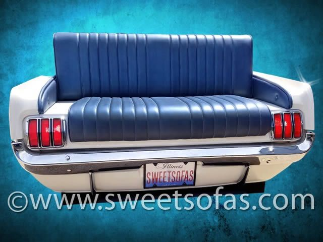 1965 Mustang Rear Facing Car Sofa | Built By Sweet Sofas Great Pictures