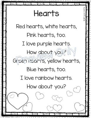 5 Valentine S Day Poems For Kids Poetry Fun Pinterest