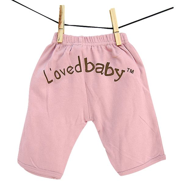 """L'oved Baby Cotton Basics Signature Pant! These adorable pants feature a soft elastic waist, mock front pockets, and """"L'oved baby"""" on the rump!"""