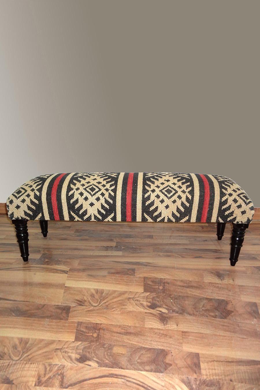 Nuloom Aztec Wooden Bench