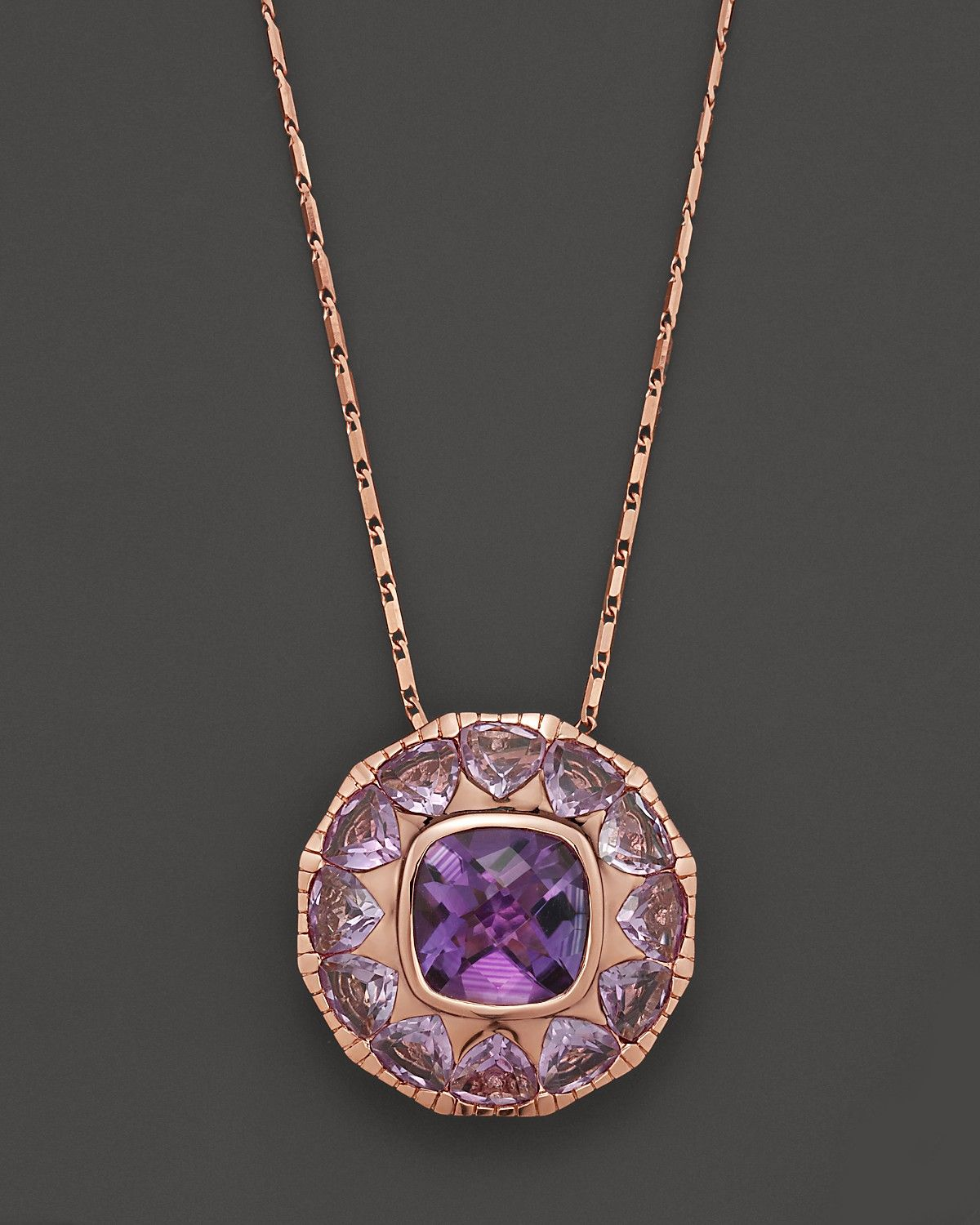 Amethyst And Pink Amethyst Pendant Necklace In 14k Rose Gold 18 Jewelry Accessories Fine Jewelry Necklaces Bloomingdale S Amethyst Necklace Pendant Amethyst Pendant Pink Amethyst