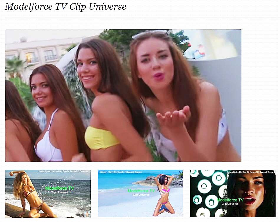 Sexy models clips