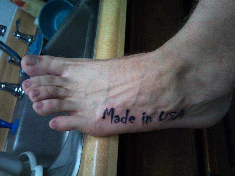 My 'Made In USA' Tattoo :)