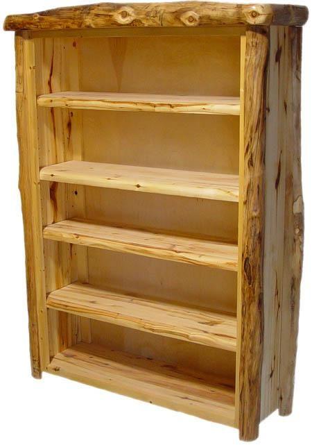 Log Cabin Bookcase Or Shelving Unit Log Furniture Log Furniture Plans Rustic Bookcase