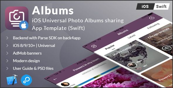 Albums   iOS Universal Photo Albums Sharing App Template
