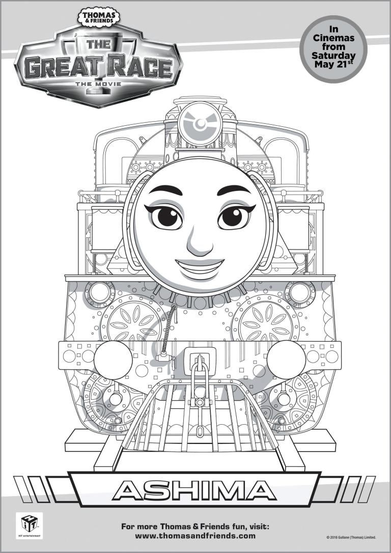 Thomas Friends The Great Race Colouring Pages Free Printables