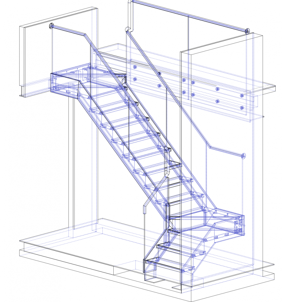 Stair Technical Drawing Diagrams Drawings Models