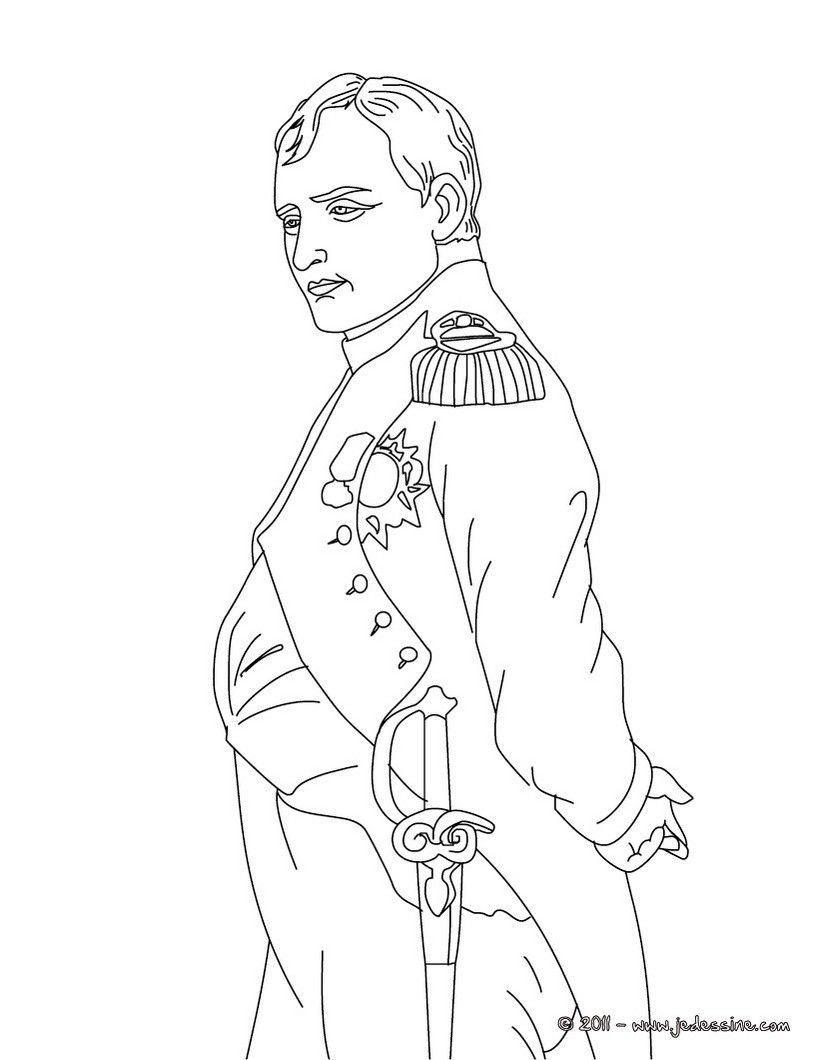 Kaiser Bonaparte Tapijt Napoléon Color Sheets Coloring Pages Napoleon People