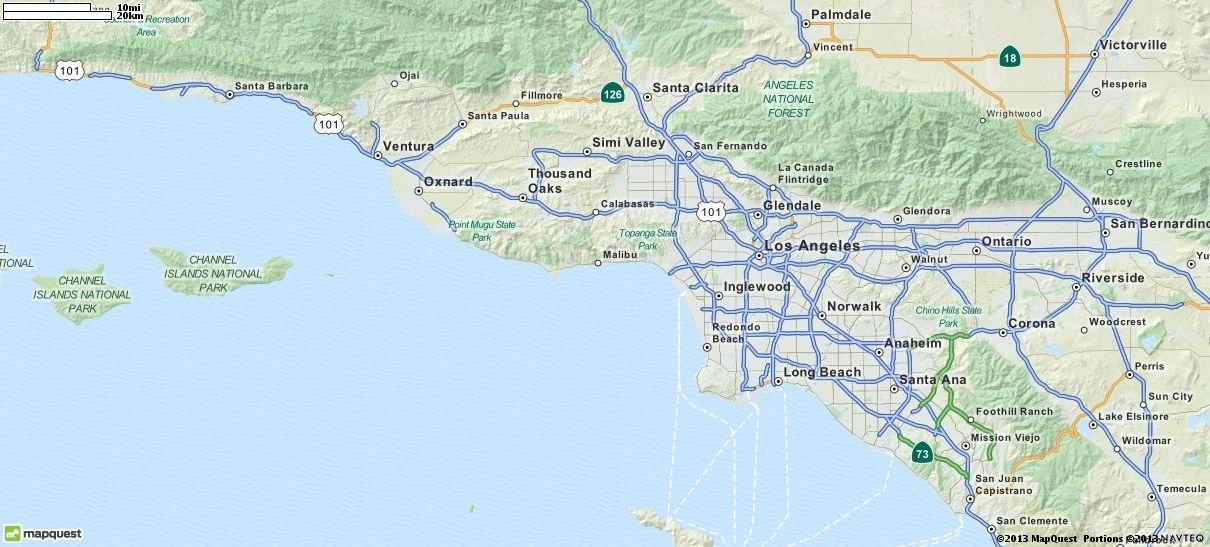 Map Of California MapQuest Malibu Pinterest Road Conditions - Mapquest california