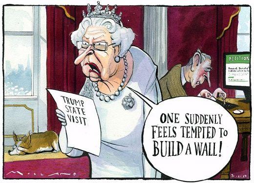 Queen Elizabeth Ii Political Cartoons Time Cartoon Newspaper