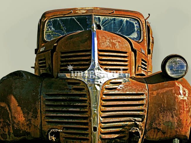 """Rusty Truck"" by Jon Blumenaus, Woodstock // An abandoned rusty Dodge truck relic from the 1940's. // Imagekind.com -- Buy stunning, museum-quality fine art prints, framed prints, and canvas prints directly from independent working artists and photographers."