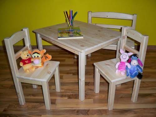 Kindersitzgruppe öko Pur Kindertisch 2 Stühle 130