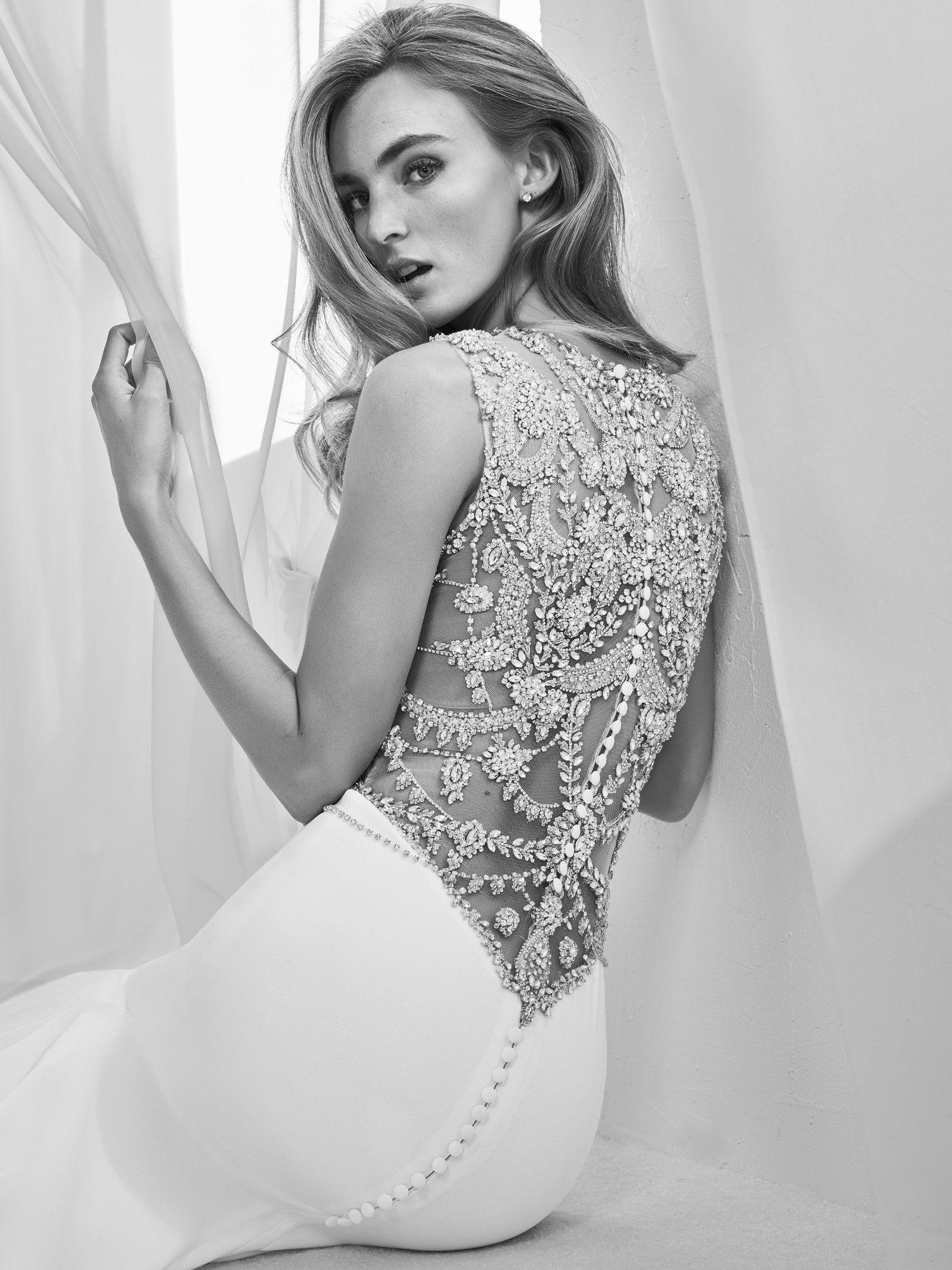 Vestido de noiva manga comprida Alta costura 2018