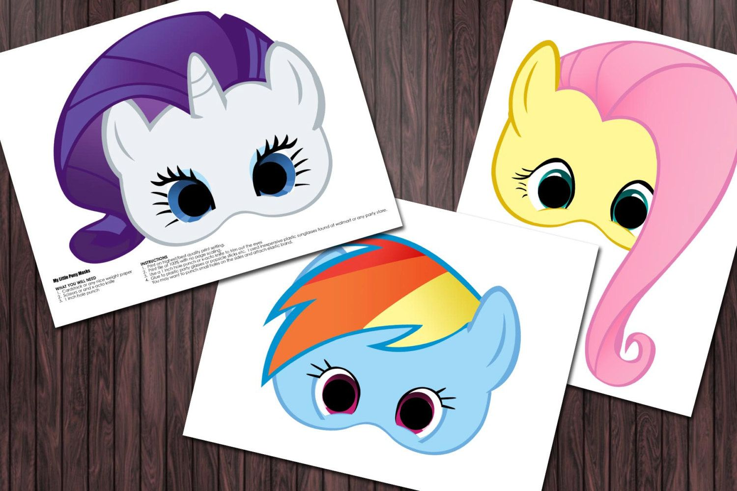 6 My Little Pony Printable Masks Birthday Party