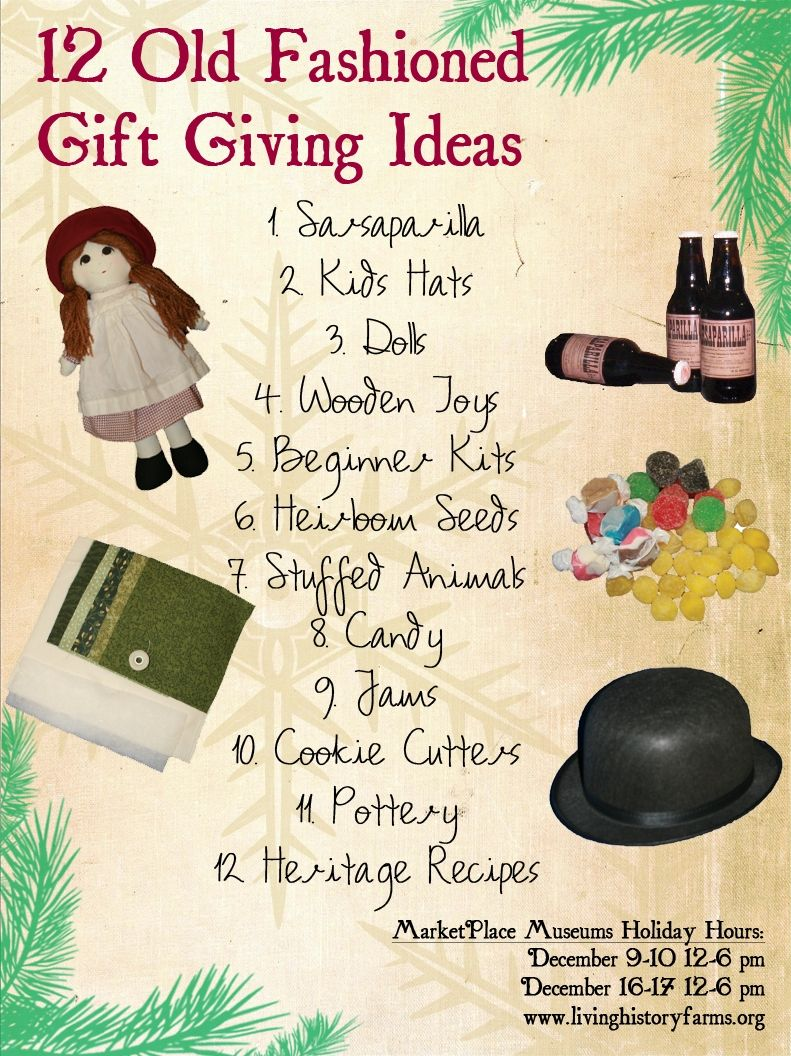 Old fashioned Christmas gift ideas from the Living History Farms in ...