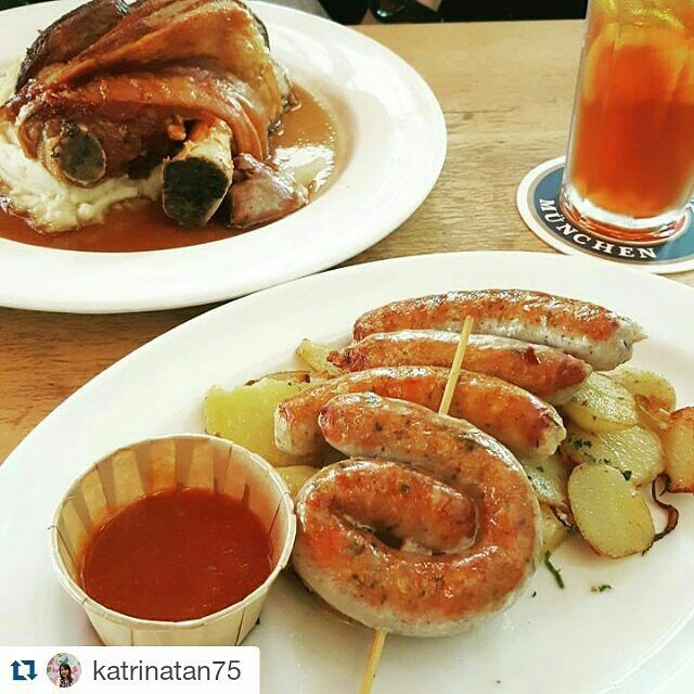 Paulaner Brauhaus Singapore @ #01-01 Millenia Walk ---Singapore Food Hunt  View all submissions at hashtag: #EpochTimesFood    Repost @katrinatan75 with @repostapp ・・・ just #porkknuckles and #sausages