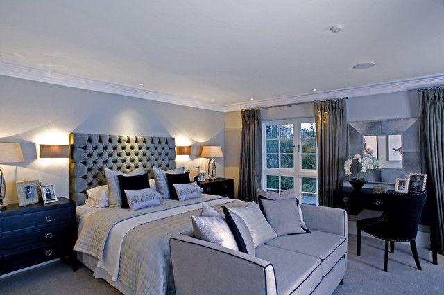 Grey Sofa With Fantastic Bedroom Furniture Designs Tufted Headboard