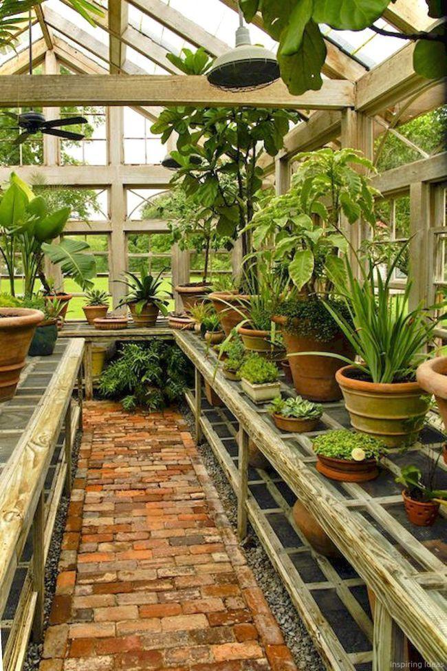 45 Inspiring Garden Shed Ideas You Can Afford Jardins Jardin D Hiver Jardinage En Serre