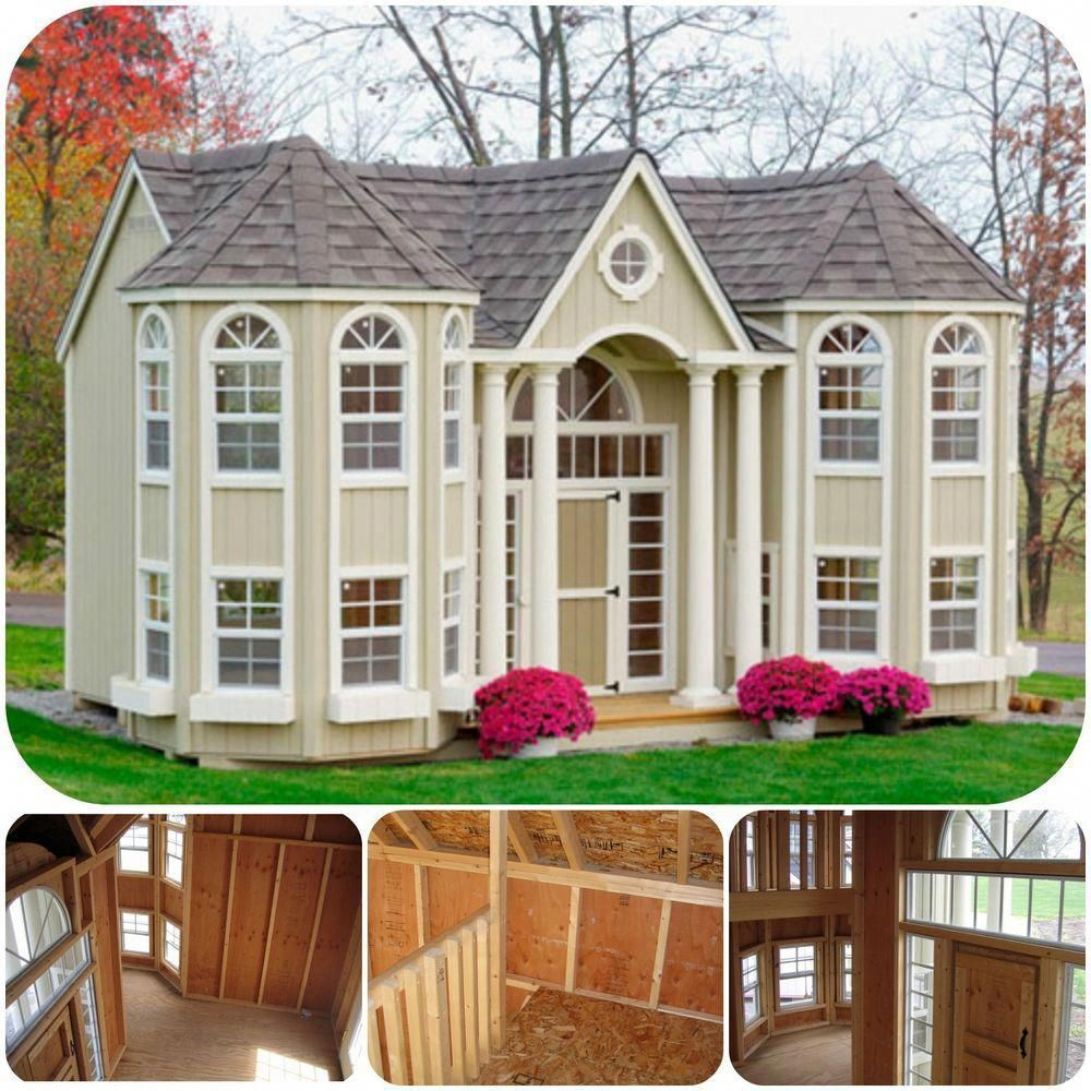 Luxury Wooden Playhouse With Floor Roof