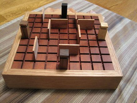 Quoridor Board Wood Games Wooden Board Games Wood