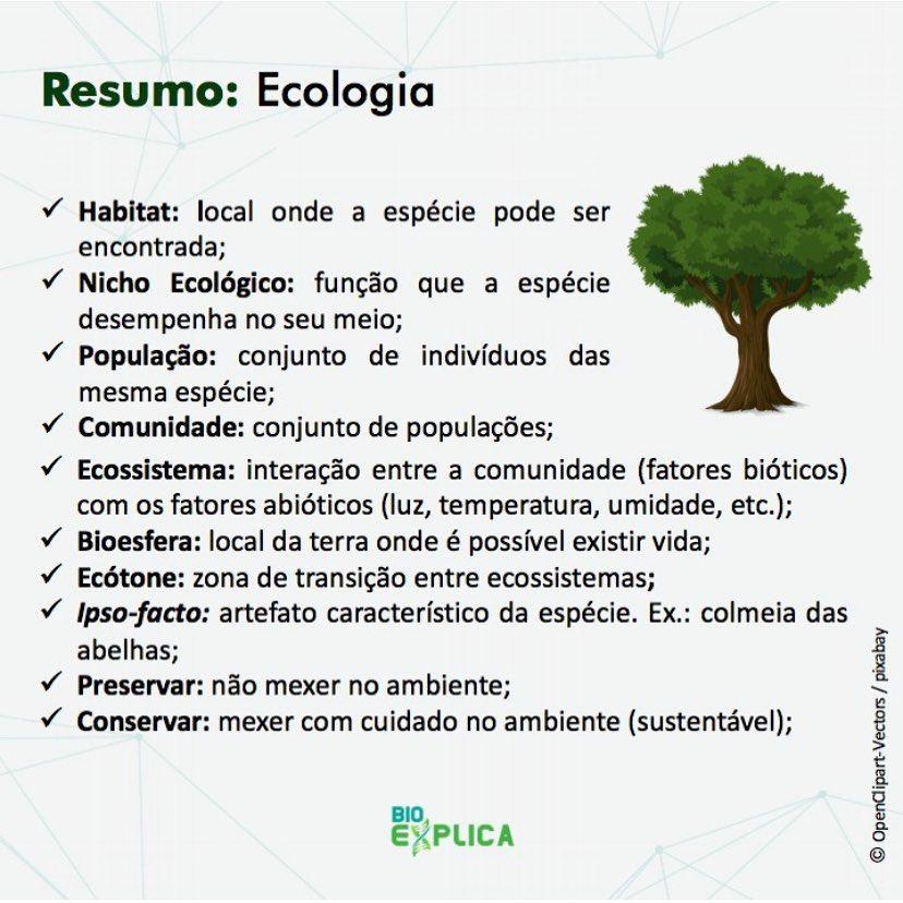 Ecologia Conceitos Basicos De Ecologia E Uma Aula Muito Importante Para O Enem Vou Deixar Esse Resumo Para Voces Resumos Enem Enem Estudos Para O Enem