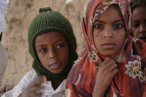 Africa: Nubian Children, Southern Egypt/Northern Sudan