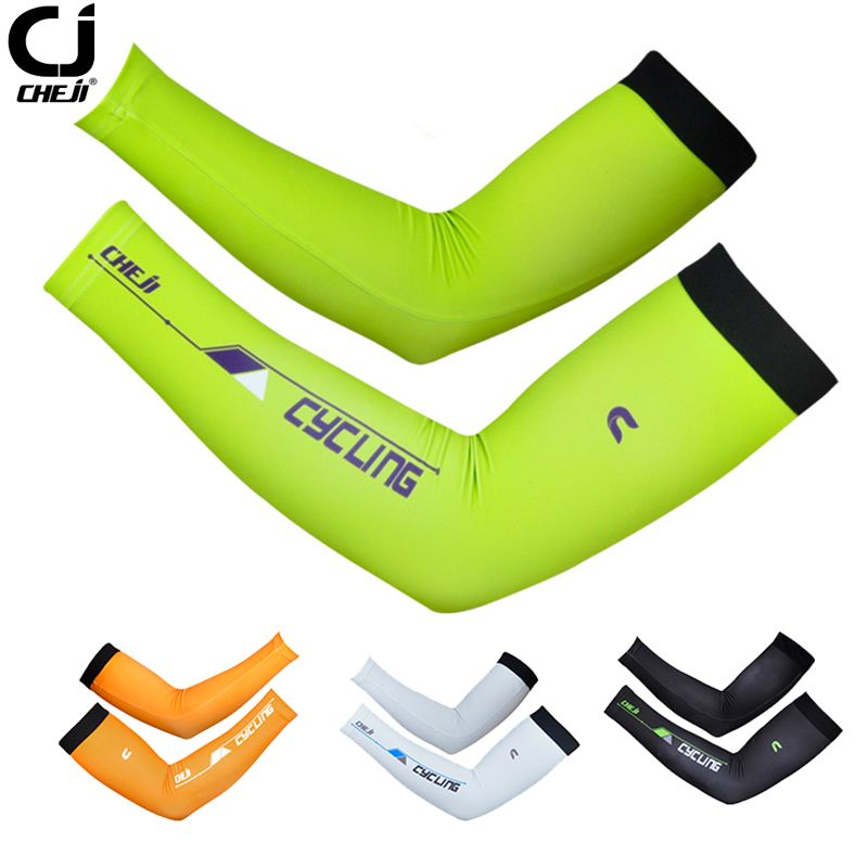 New Sun Protection Cuff Cover CHEJI Arm Sleeves Bike Bicycle Cycling Arm Warmers