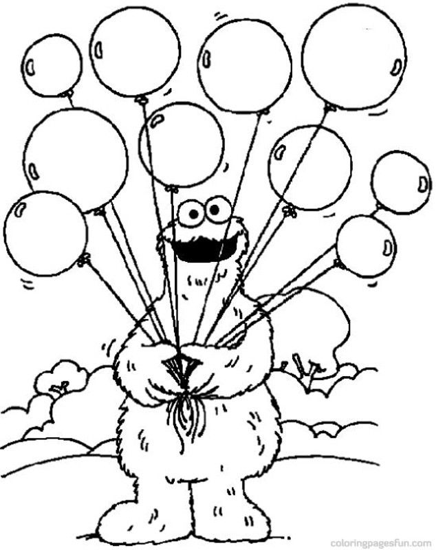 Beautiful Sesame Street Coloring Pages 92 For Line Drawings With