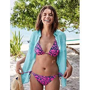 String Bikini Top - Navy/Multi Stripe | Boden UK