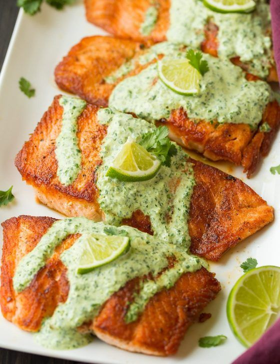 Salmon Recipe with Garlic Lemon Butter Sauce - Cooking Classy #searedsalmonrecipes
