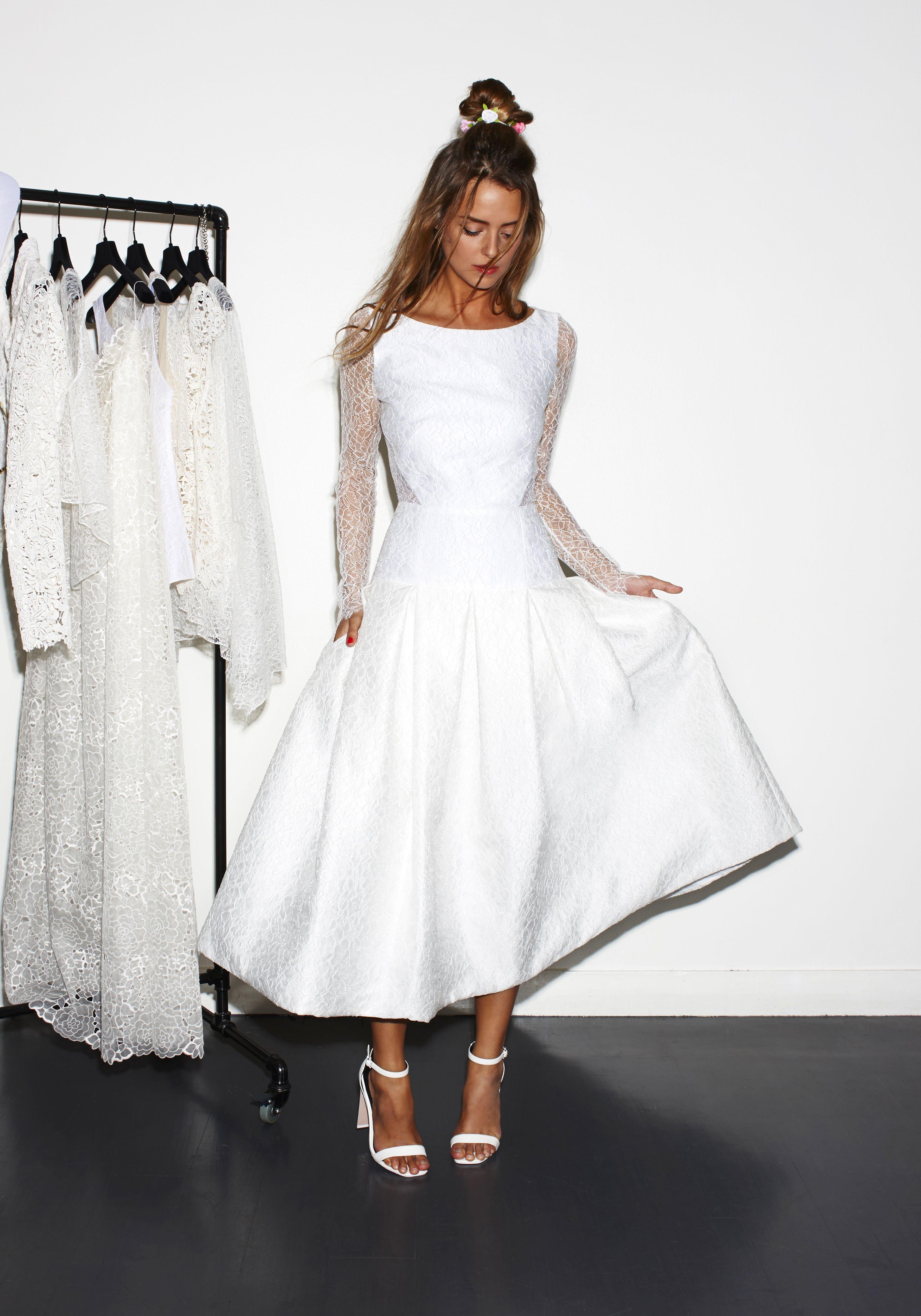 Kurze Brautkleider | Pinterest | Brautkleid kurz, Standesamt und ...