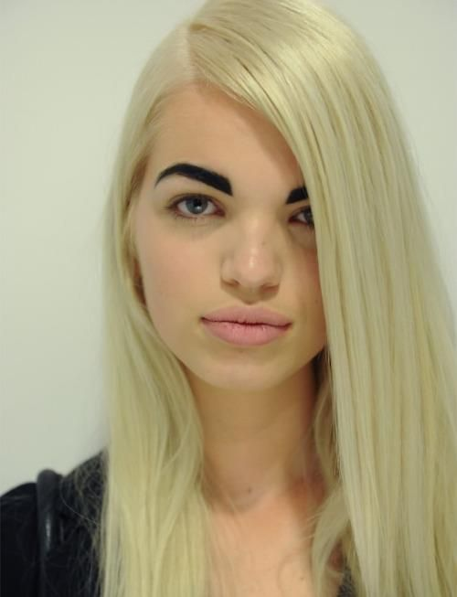 Heavy Brow Blonde Hair Dark Eyebrows Bad Eyebrows Dark Eyebrows