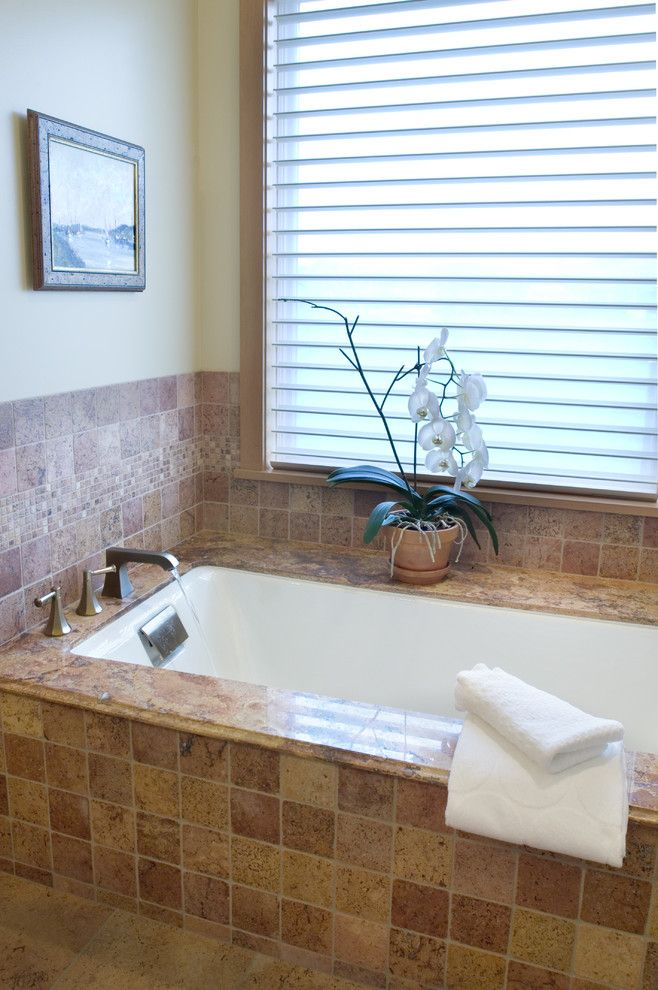Jacuzzi Tub Surround Bathroom Eclectic With Accent Tile