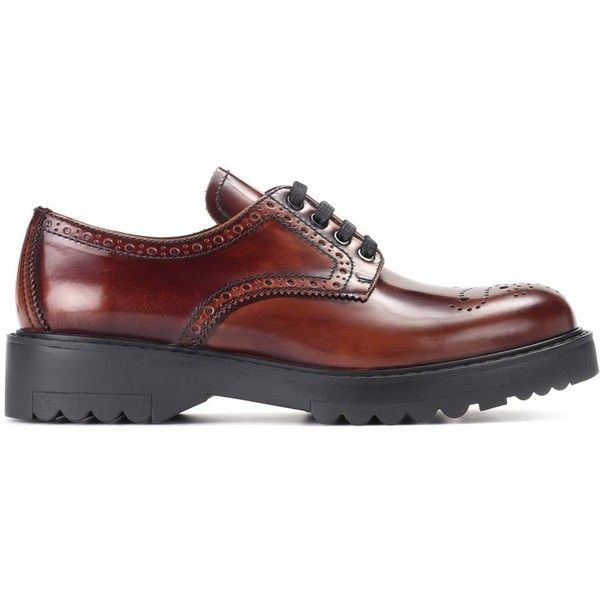 lace-up brogues - Brown Prada fRZYnXe
