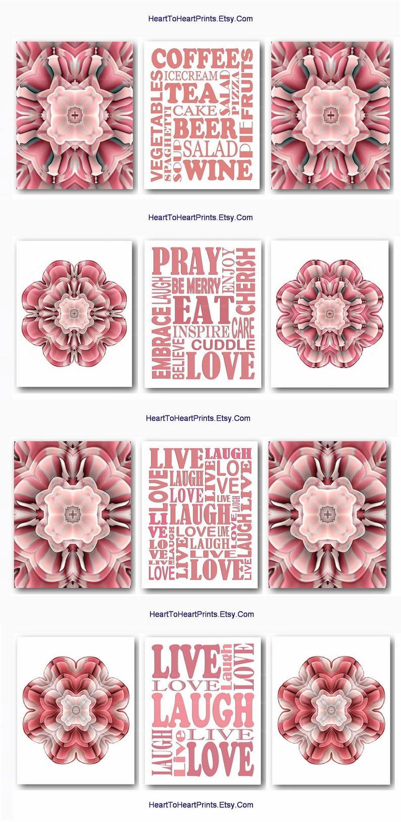 Best Kitchen Wall Art Blush Pink Dining Room Decor Downloadable 640 x 480