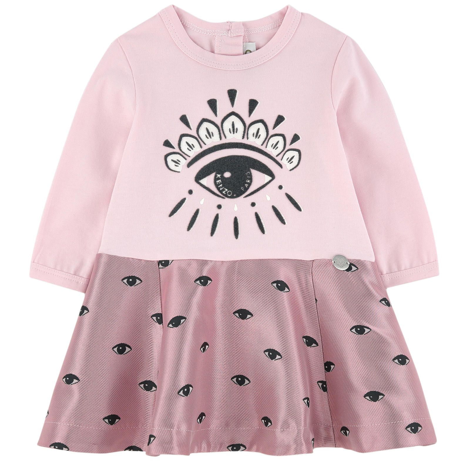 Eye bimaterial dress