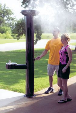 image of the mister with drinking fountain model 570 Girl Scout