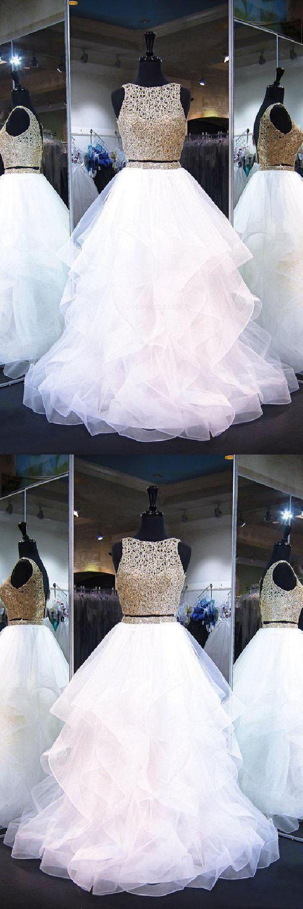 Sleeveless prom dresses prom dresses long prom dresses two piece