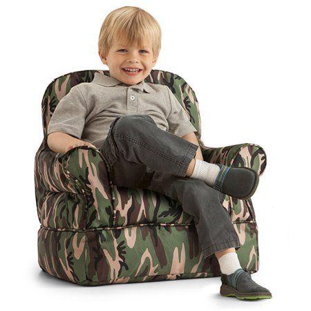 Peachy Big Joe Bubs Camo Kids Bean Bag Chair Green Products Spiritservingveterans Wood Chair Design Ideas Spiritservingveteransorg