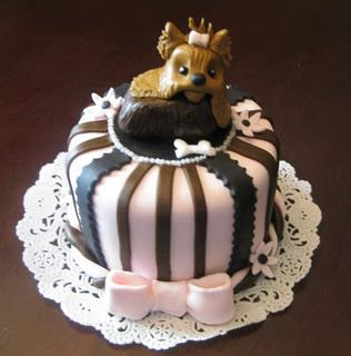 black brown and yorkie dog puppy cake where do i get this?!