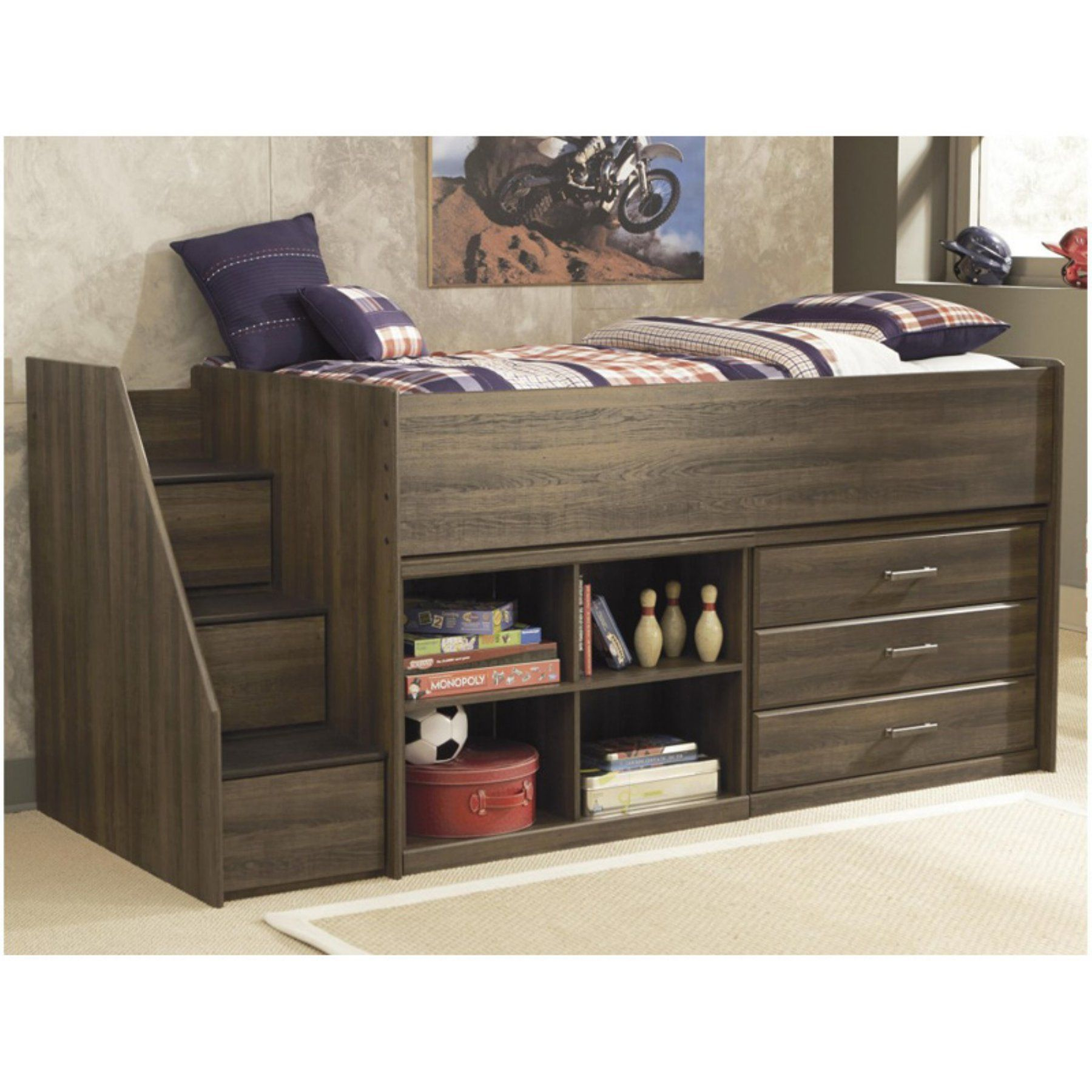 Signature Design by Ashley Juararo Twin Loft Bed Dark