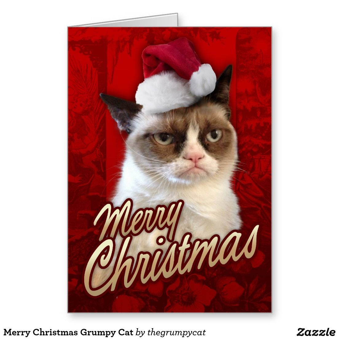 Merry Christmas Grumpy Cat Greeting Card | Simply Christmas Cards ...