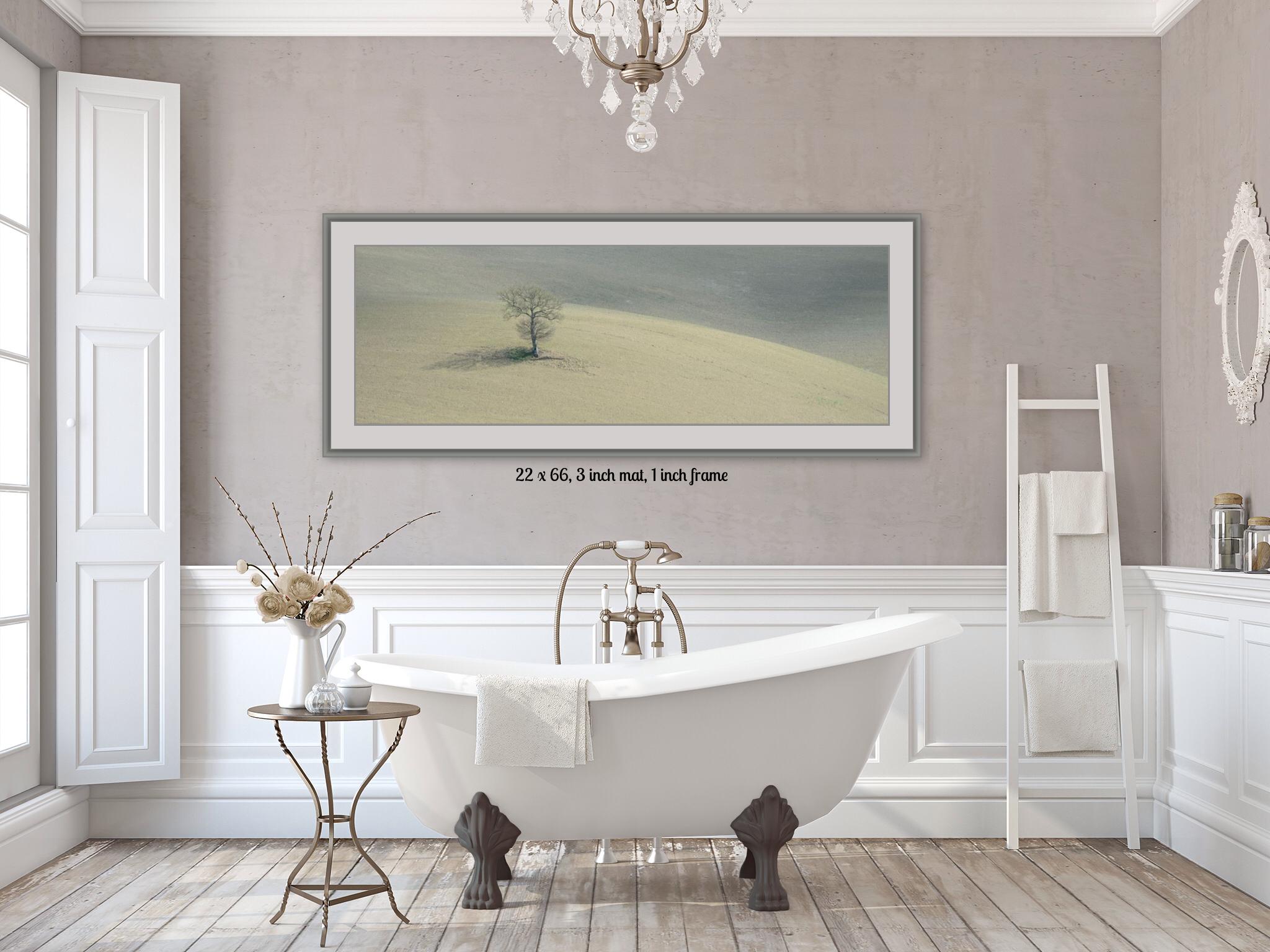 Exemple d'une de mes photographies de la Toscane dans une salle de bain.