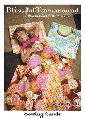 Blissful Turnaround Blanket/Pillow Pattern By Valori Wells