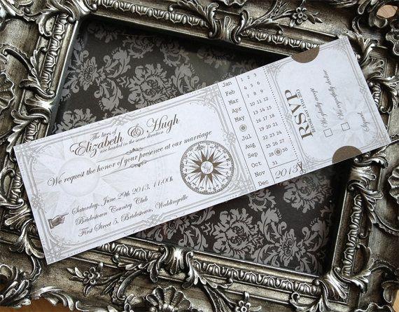 Printable Steampunk Wedding Invitations Wedding Ideas Pinterest