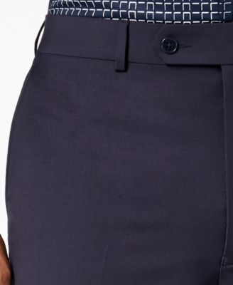 83993957c Calvin Klein Men's Extra-Slim Fit Infinite Stretch Navy Suit Pants - Blue  32x32